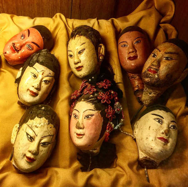 An Assortment Puppet Heads At Teo Chew Puppet And Opera Museum