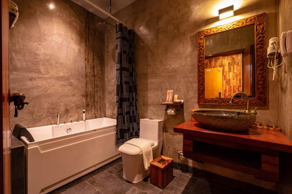 Bathroom With Bathtub In Deluxe Studio Suite At Ipoh Bali Hotel