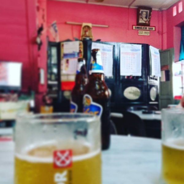 Beer at Sinhalese bar - photo credits to wongww (Instagram)
