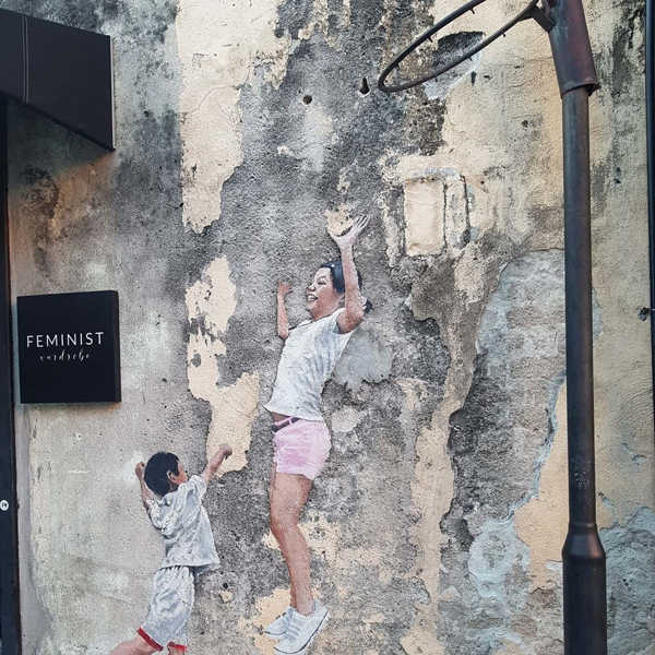 Boy Playing Basketball By Louis Gan - Penang Street Art