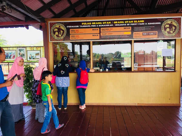 Buy tickets at the designated counter for Orang Utan Island upon arrival