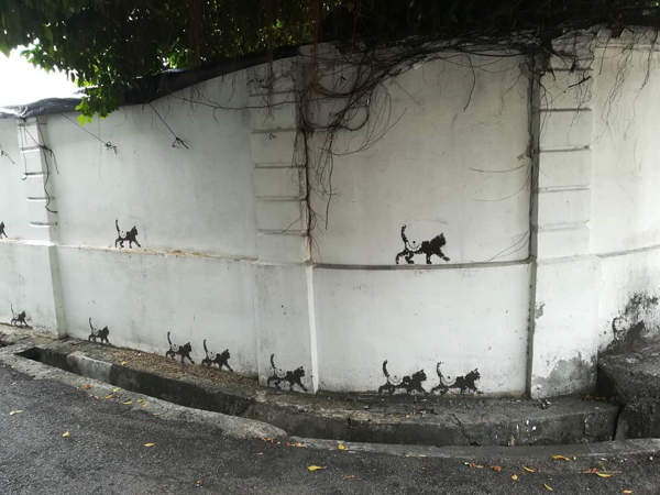 Cats Walking For Animal Awareness - One Of The Murals For The 101 Kittens Penang Street Art Project