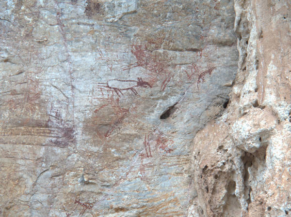 Cave Paintings At Gua Tambun (Tambun Cave)
