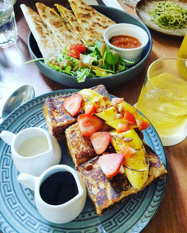 Cinnamon French Toast And Cheesy Quesadillas By Kafka Cafe In Penang