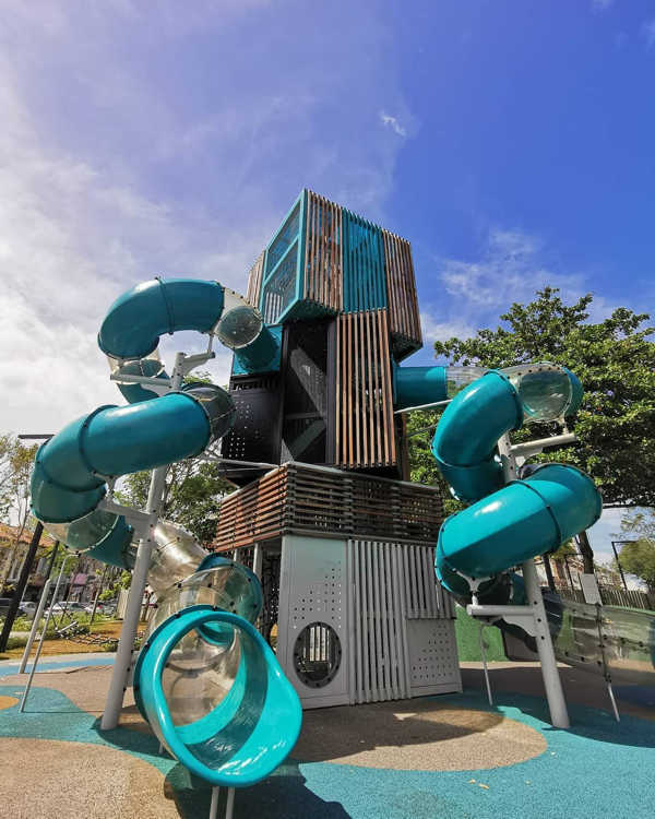 Contemporary Playgroung At Urban Sia Boey Urban Archaeological Park