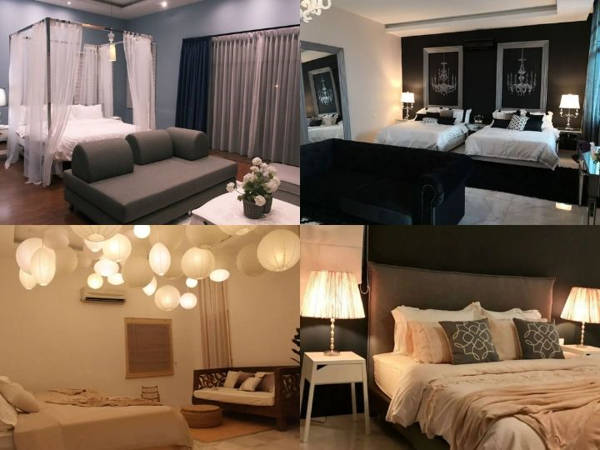 Different themed bedrooms at the Designer Villa Ipoh