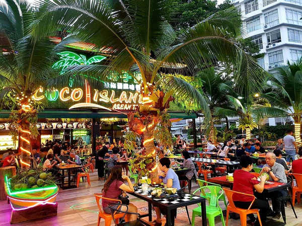 Dining Scene At Coco Island Penang