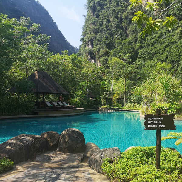 Geothermal pool at The Banjaran Hotsprings Retreat