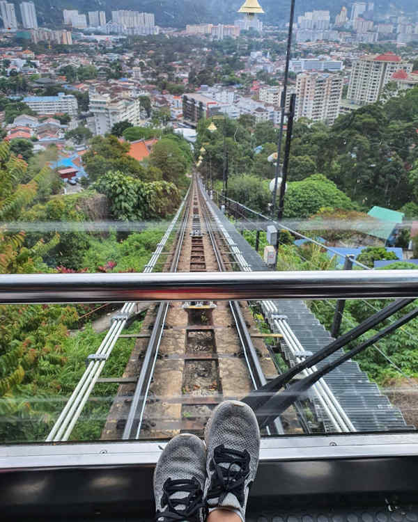 Going Up Penang Hill With The Funicular