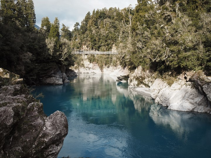 Hokitika Gorge - One of the highlights in our 1 month self-drive trip around New Zealand during winter. More on www.travelswithsun.com