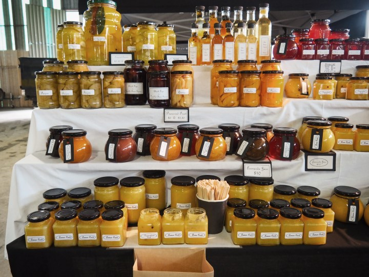 Homemade jams and custards sold at Hawkes Bay Farmer's Market -- One of the highlights in our 1 month self-drive trip around New Zealand during winter. More on www.travelswithsun.com