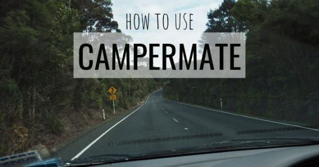 How to use the free app CamperMate