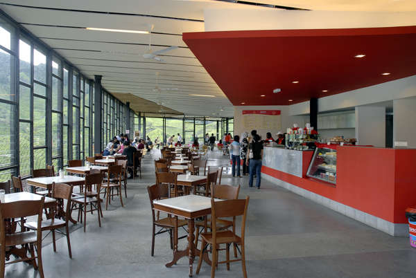 Interior Of The Cafe At BOH Sungai Palas Tea Centre