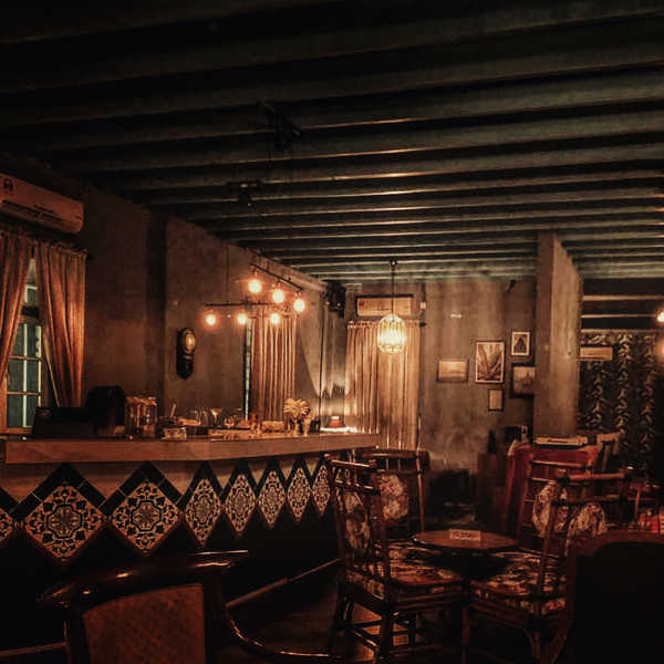 Interior of Atas Speakeasy bar in Ipoh
