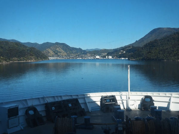 Approaching Picton on the Interislander Ferry