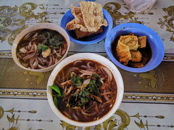Laksa And Side Dishes At The Night Market In Gunung Rapat