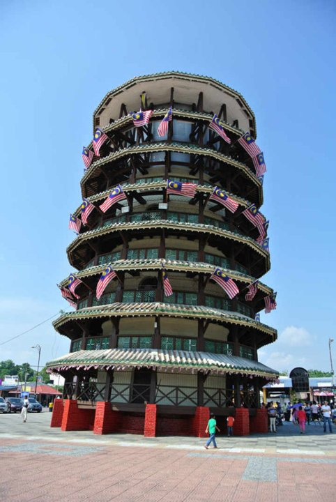 Leaning tower of Teluk Intan during Melaka - an attraction you can include in to an Ipoh road trip - see the full list of Ipoh trips on www.travelswithsun.com
