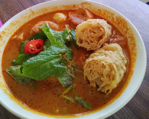 Nyonya Laksa from the menu in Laksa Leaf Cafe, Ipoh