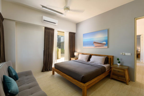 One Of The Bedrooms At By The Sea Beach Front Apartment
