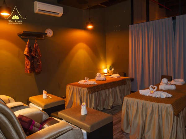 One of the massage rooms at Thai Oasis (ICC Club)