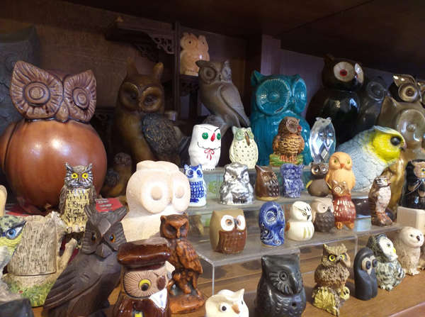 Owl Figurines And Sculptures At The Owl Shop In Penang