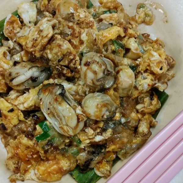 Oyster Omelet (Oh Chien) At Bee Hooi Hawker In Penang