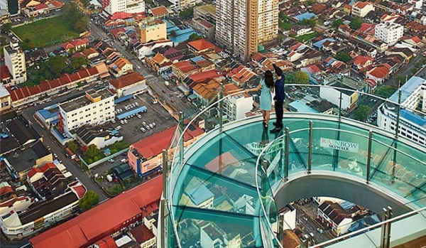 Rainbow Skywalk At The Top Komtar Penang