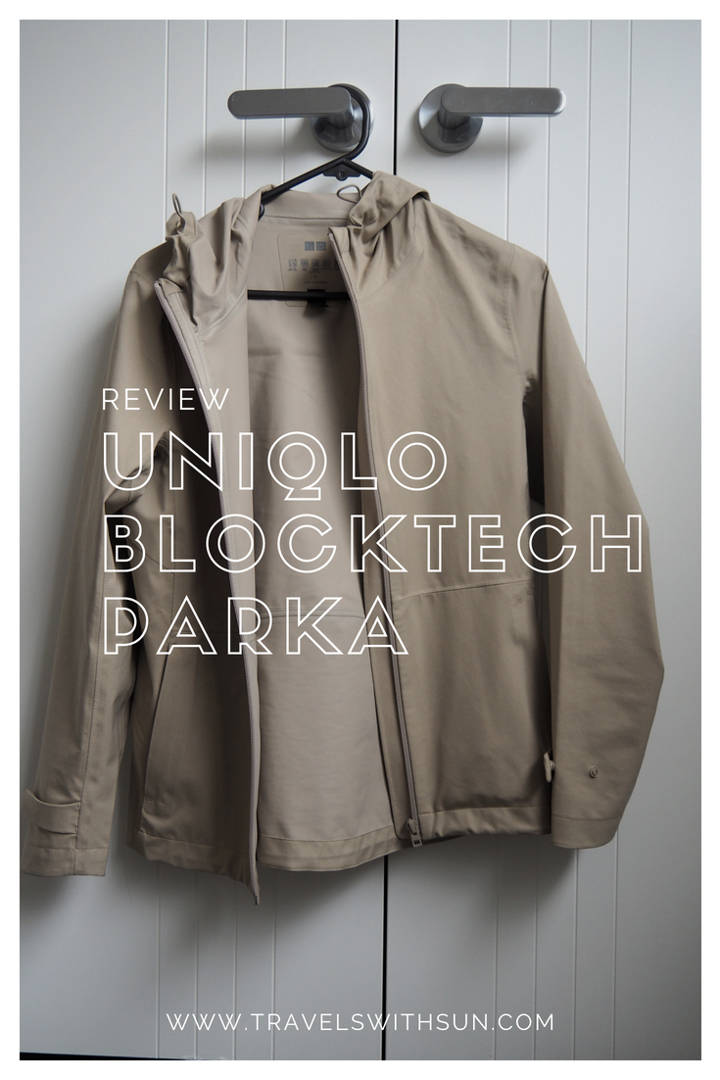 Review of the UNIQLO Blocktech parka by www.travelswithsun.com