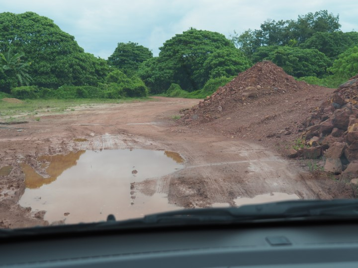 Road condition inside the site
