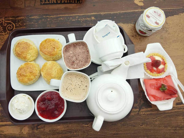 Scones at KHM Strawberry Farm, Cameron Highlands