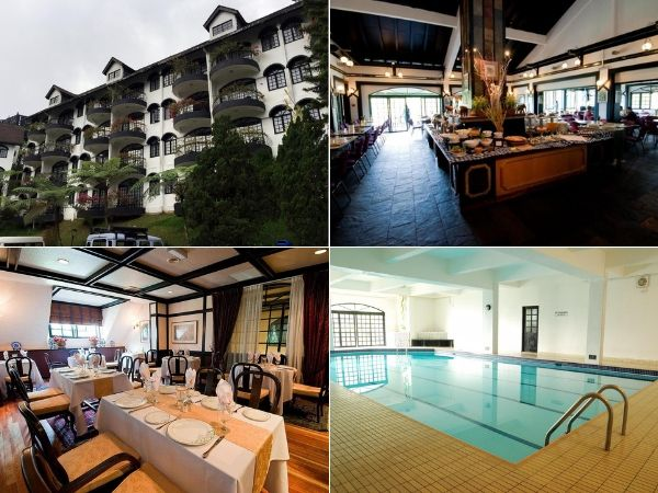 Swimming Pool & Restaurant at Strawberry Park Resort