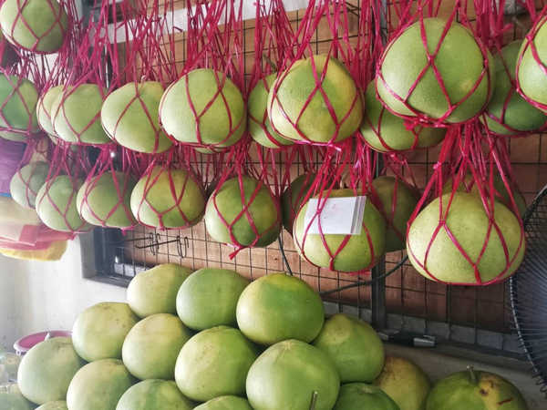 Tambun Pomelos in Ipoh are juicy and sweet