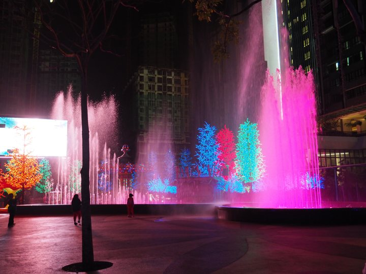 The dancing fountain show at i City Shah Alam, Kuala Lumpur, Malaysia - more on what to expect in i City on www.travelswithsun.com