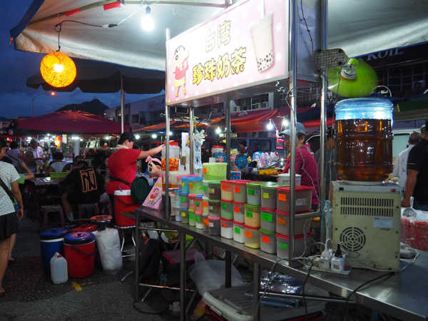 Traditional Bubble Tea Stall At One Of The Ipoh Night Market