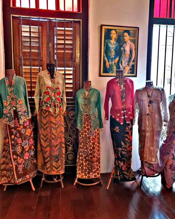 Traditional Costumes Displayed At Penang Peranakan Mansion