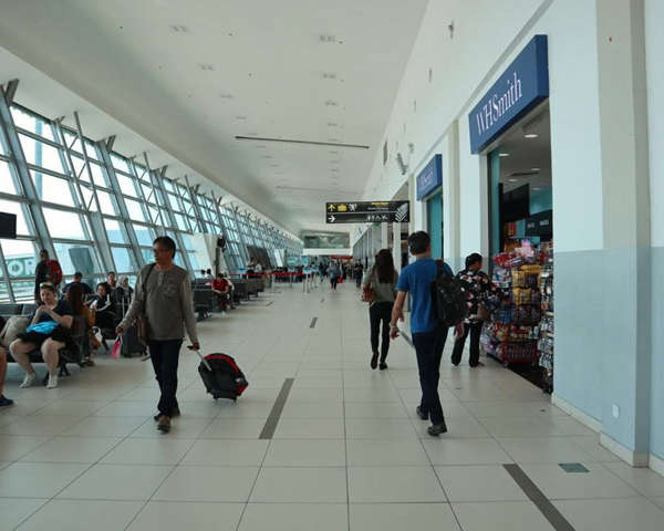 Travelers At Penang International Airport