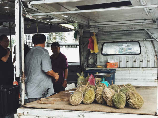 Tua Bui Teik Durians Operates From A Truck At Penang