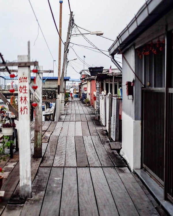 Typical Walkway At Lim Clan Jetty With A Cluster Of Homes