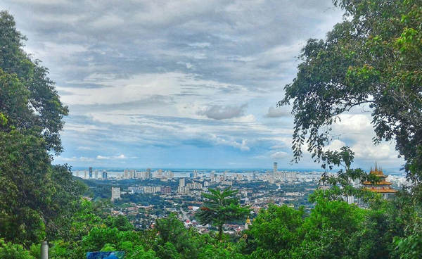 View Of Penang From Air Itam Dam