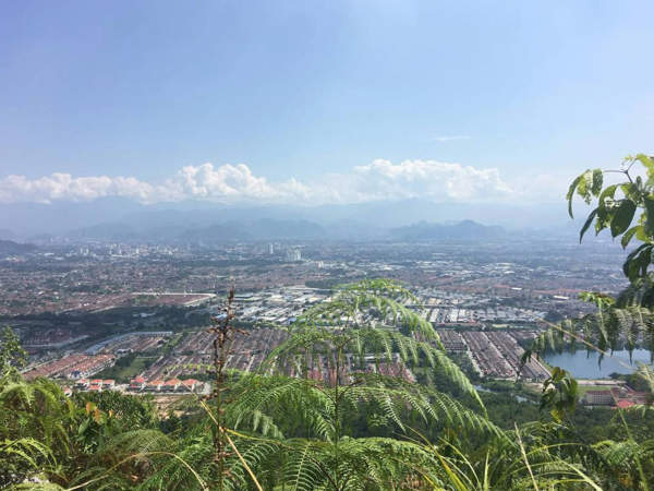 View from the summit of Bukit Kledang