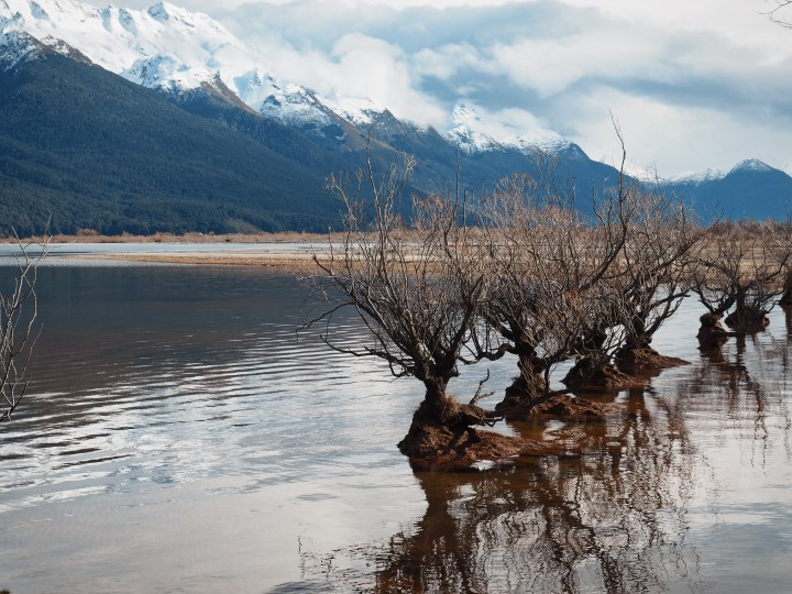 Willow sisters at Glenorchy old wharf - One of the highlights in our 1 month self-drive trip around New Zealand during winter. More on www.travelswithsun.com