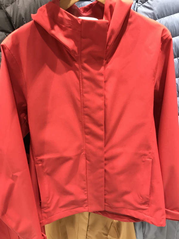 Womens Parka In Bright Red - Hidden Zip